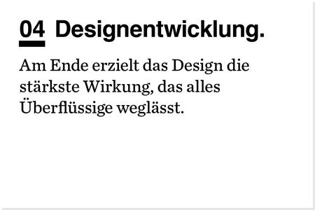 Designprozess. Designentwicklung