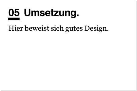 Designprozess. Umsetzung