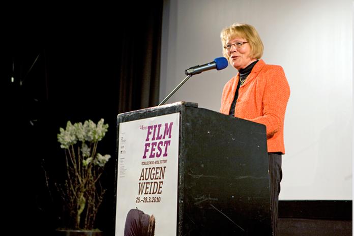 Grußwort Cathy Kietzer, Stadtpräsidentin der Landeshauptstadt Kiel - Filmfest Schleswig-Holstein Augenweide 2010, Kiel, Kino