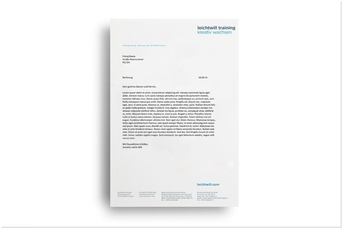 leichtwill Personalentwicklung Corporate Design/Briefpapier