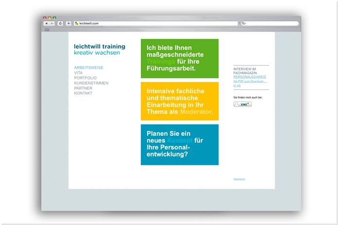 leichtwill Personalentwicklung Corporate Design/Internetseite