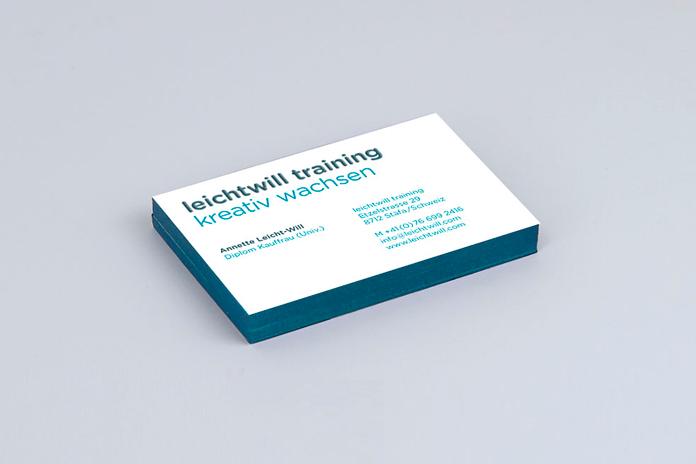 leichtwill Personalentwicklung Corporate Design/Visitenkarte