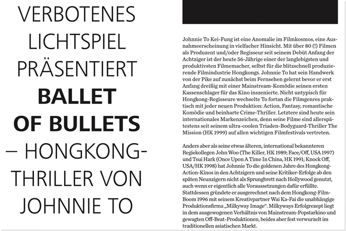 Verbotenes Lichtspiel 2011 Programmheft, Kiel, Kino, Film