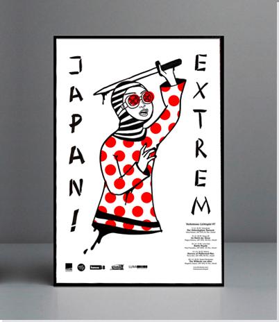 """Plakat für die neue Kinofilmreihe """"JAPAN EXTREME""""."""
