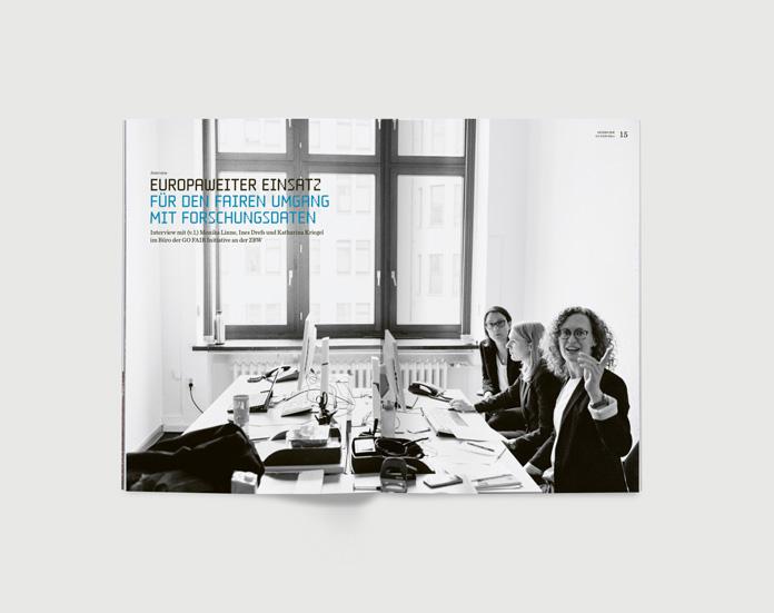 Jahresbericht, Geschäftsbericht ZBW, Kiel, Design, Werbung, FORMGUT