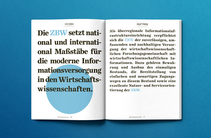 Neues Design für ZBW-Jahresbericht / Magazin / Kiel