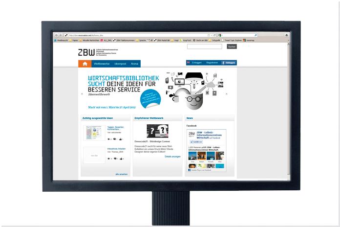 ZBW - Deutsche Zentralbibliothek für Wirtschaftswissenschaften Leibniz-Informationszentrum Wirtschaft, Ideenwettbewerb, Plakat, Uni Hamburg, Kiel, Hamburg